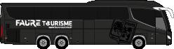 Maquette de la navette FAURE Tourisme direction walibi